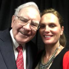 Warren Buffet and Christine Hart in Omaha
