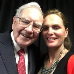 Warren Buffet and Christine Hart in Omaha